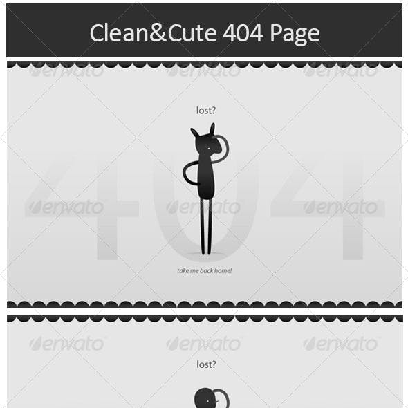 Clean&Cute 404 Pages