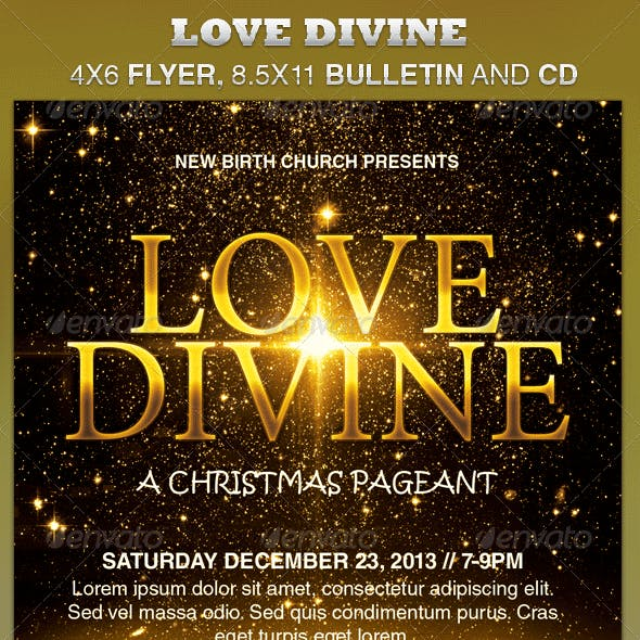 Love Divine Flyer, Bulletin and CD Template