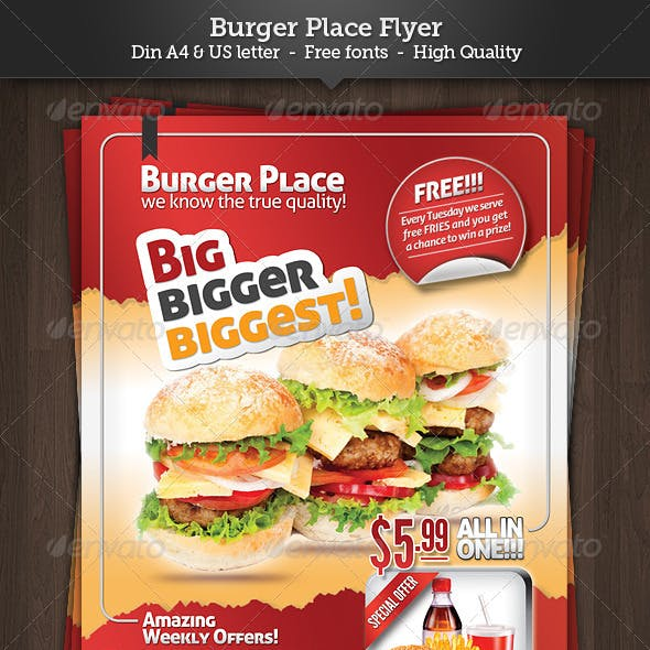 Burger Place - Fast Food Flyer