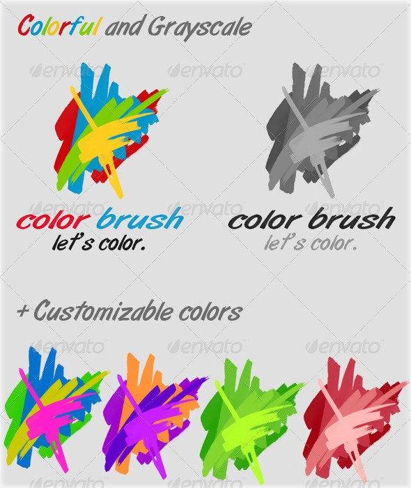 Color Brush - Abstract Logo Templates