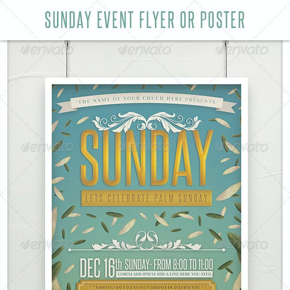 Sunday Event Flyer or Poster