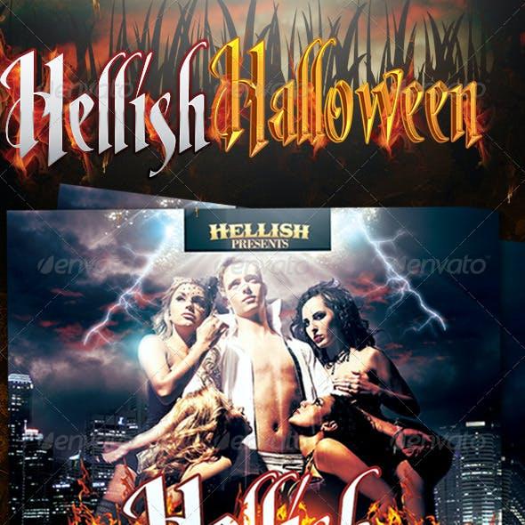 Hellish Halloween Flyer Template v2