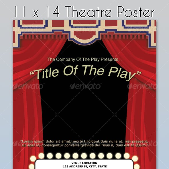 Theatre Poster Template - 6 Colors