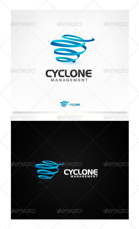 Cyclone Management Logo Template - 3d Abstract