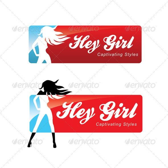 HeyGirl - Captivating Styles - Humans Logo Templates