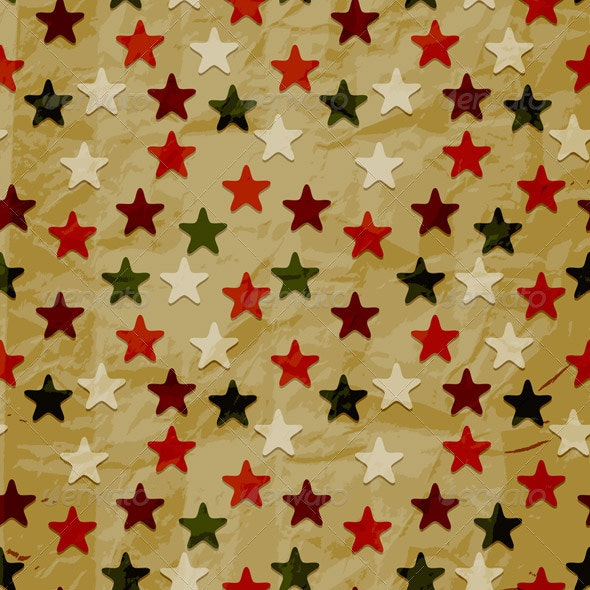 Vector Seamless Pattern, Crumpled Paper - Patterns Decorative