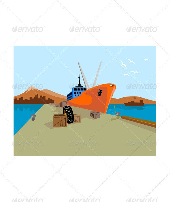 Passenger Ship Ferry Boat Anchor Retro  - Man-made Objects Objects