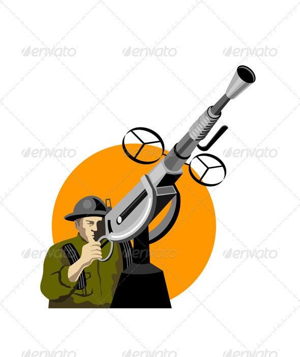 World War Two British Soldier Machine Gun  - People Characters