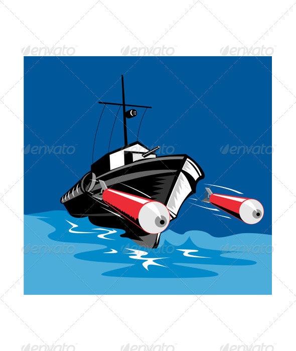Torpedo Boat Retro - Man-made Objects Objects
