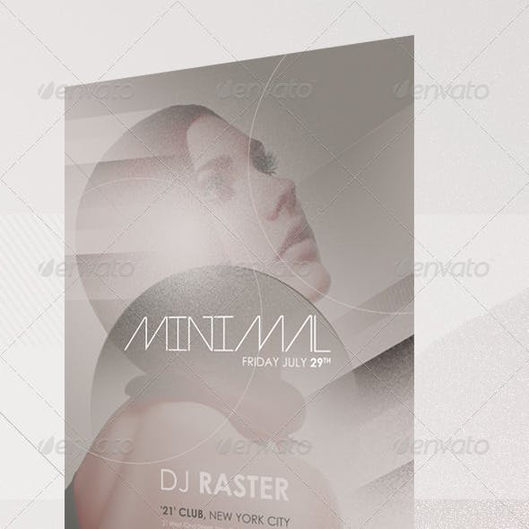 Minimalistic Modern Party Flyer Template