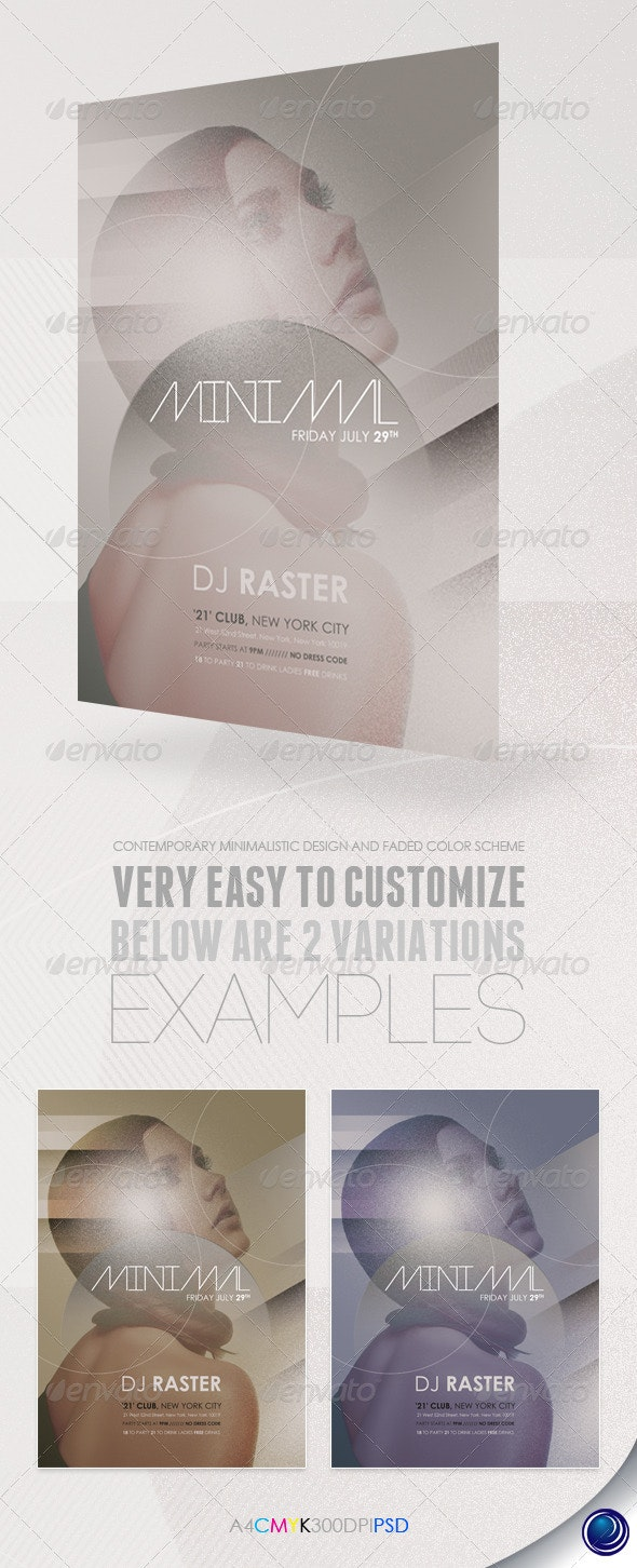Minimalistic Modern Party Flyer Template - Clubs & Parties Events