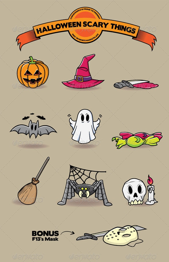 Halloween Scary Things By Chrisworks Graphicriver
