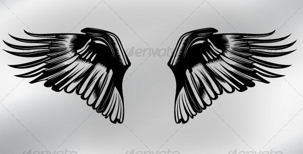 Wing  - Tattoos Vectors