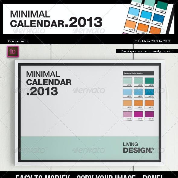 Calendar 2013 // A4 Template // Pantone ® Style