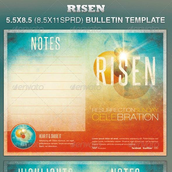 Risen Church Bulletin Template
