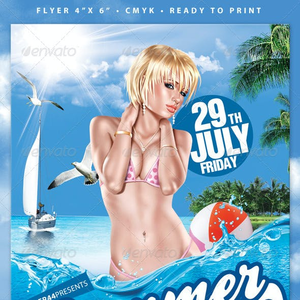 Summer Party (Flyer Template 4x6)