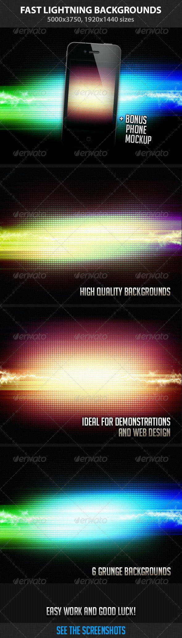 Fast Lightning Backgrounds - Backgrounds Graphics