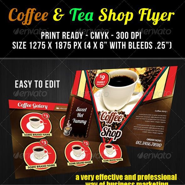 Coffee & Tea Shop Flyer Template