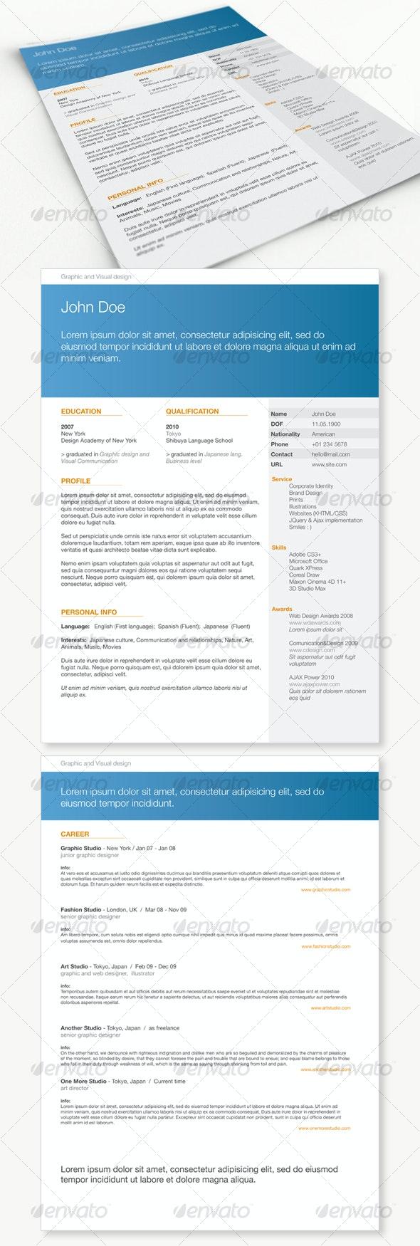 Get Minimal - Resume 01 - Resumes Stationery