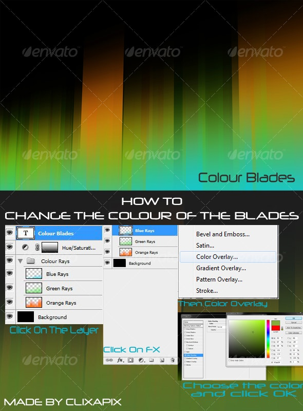 Colour Blades HD - Abstract Backgrounds