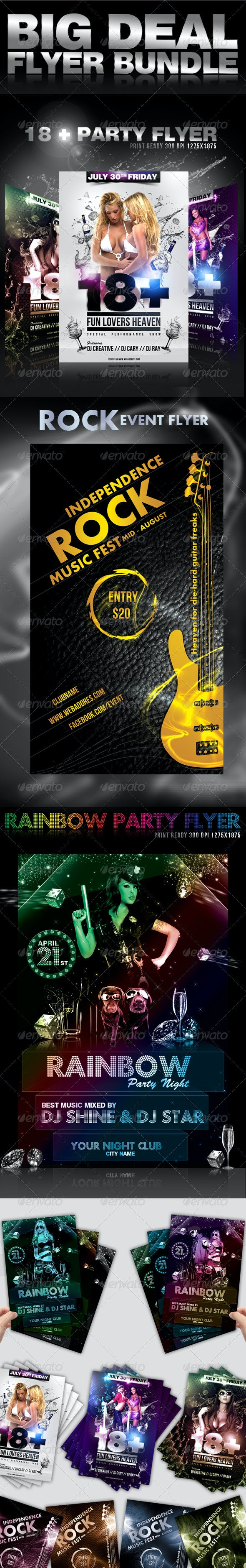 Big Deal Flyer Bundle - Clubs & Parties Events