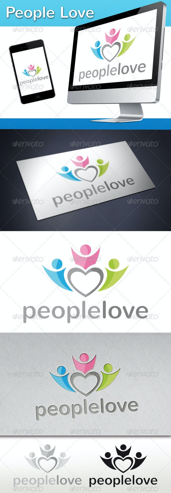 People Love Connection Logo - Humans Logo Templates