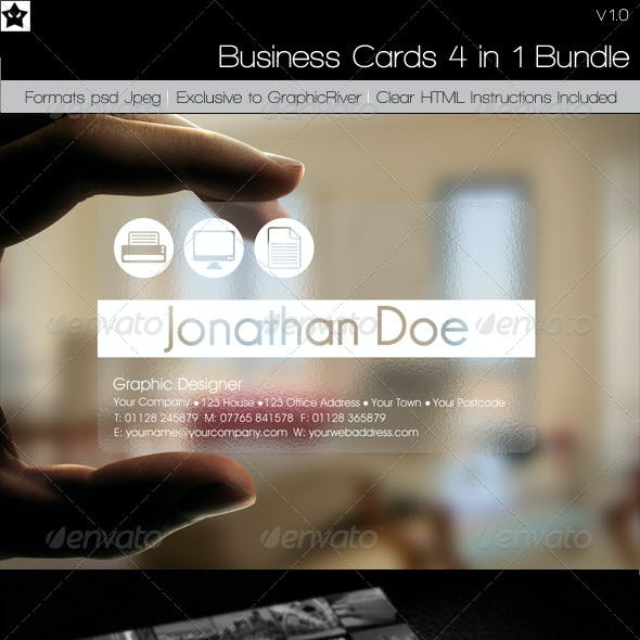 Business cards 4 in 1 Bundle 2