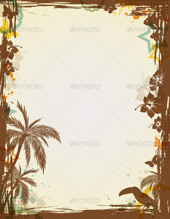 Abstract Tropical Frame - Backgrounds Decorative