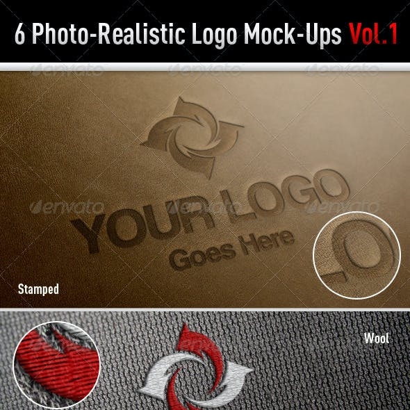 6 Photo-Realistic Logo Mock-Ups Vol.1