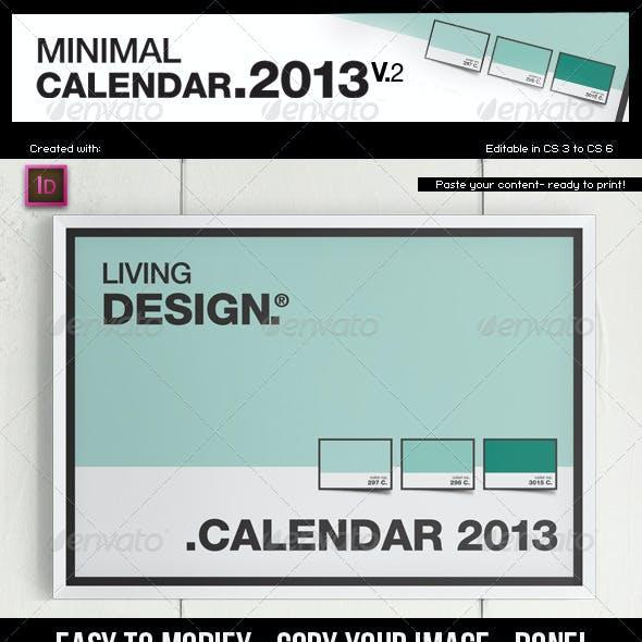 Calendar 2013 v2 // A4 Template // Pantone ® Style