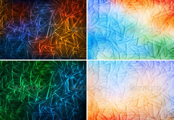 Set of colorful abstract backgrounds - Backgrounds Decorative