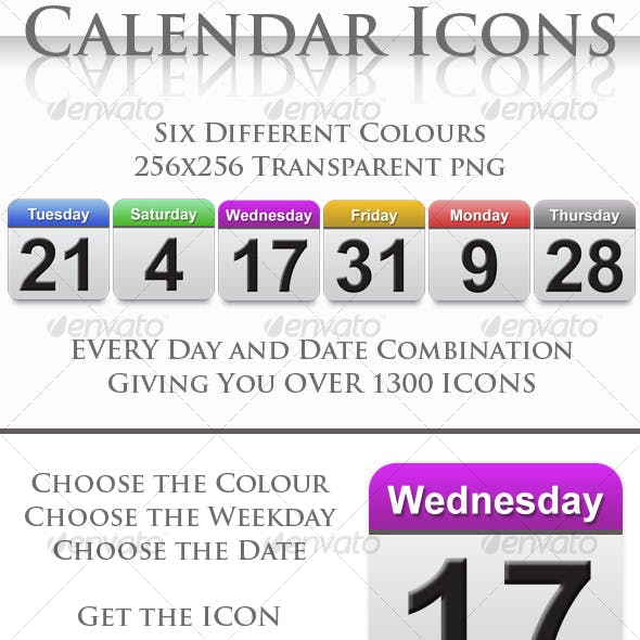 A Collection of Calendar Icons