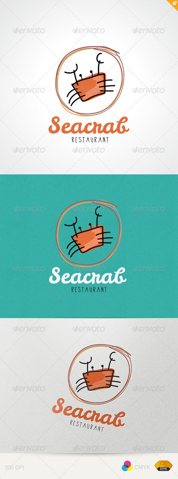 Sea Crab Restaurant - Restaurant Logo Templates