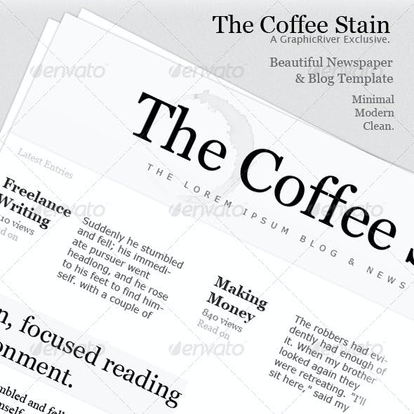 Newspaper Column Template - The Coffee Stain