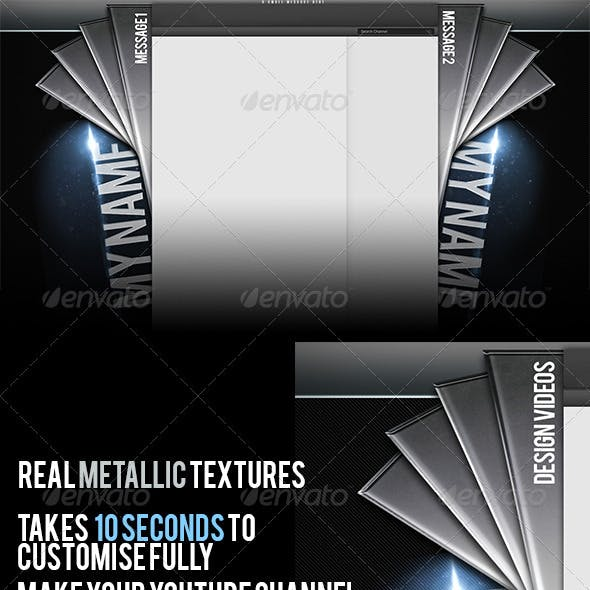 Metallic Youtube Channel Background Template V2