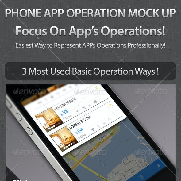 Phone Apps UI Mock Up - Basic Operations