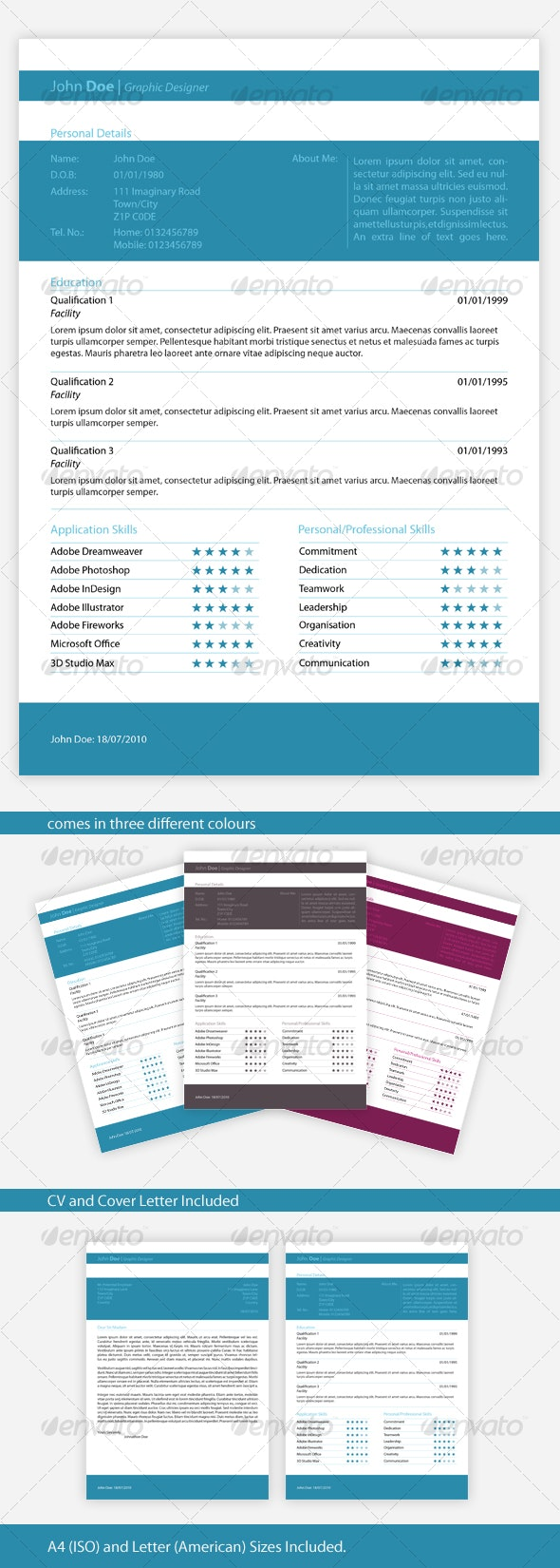 Elegant, One-page Resume - Resumes Stationery