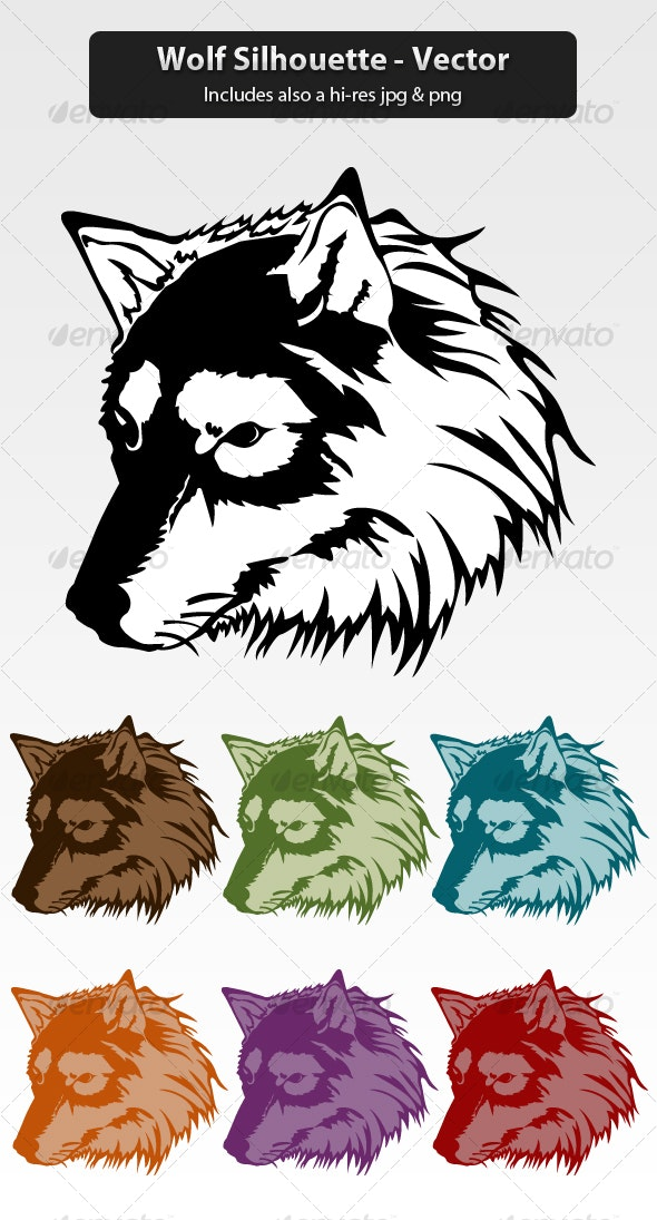 Wolf Silhouette - Animals Characters