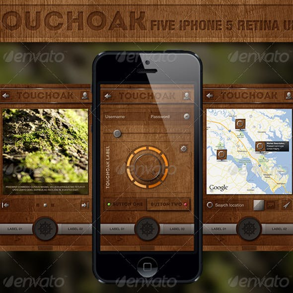 Touchoak - Retina User Interface