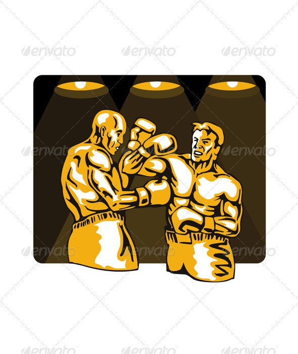 Boxer Boxing Knockout Punch Retro  - Sports/Activity Conceptual