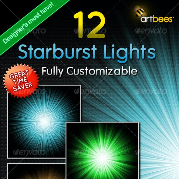 12 Starburst Light Rays - Customizable