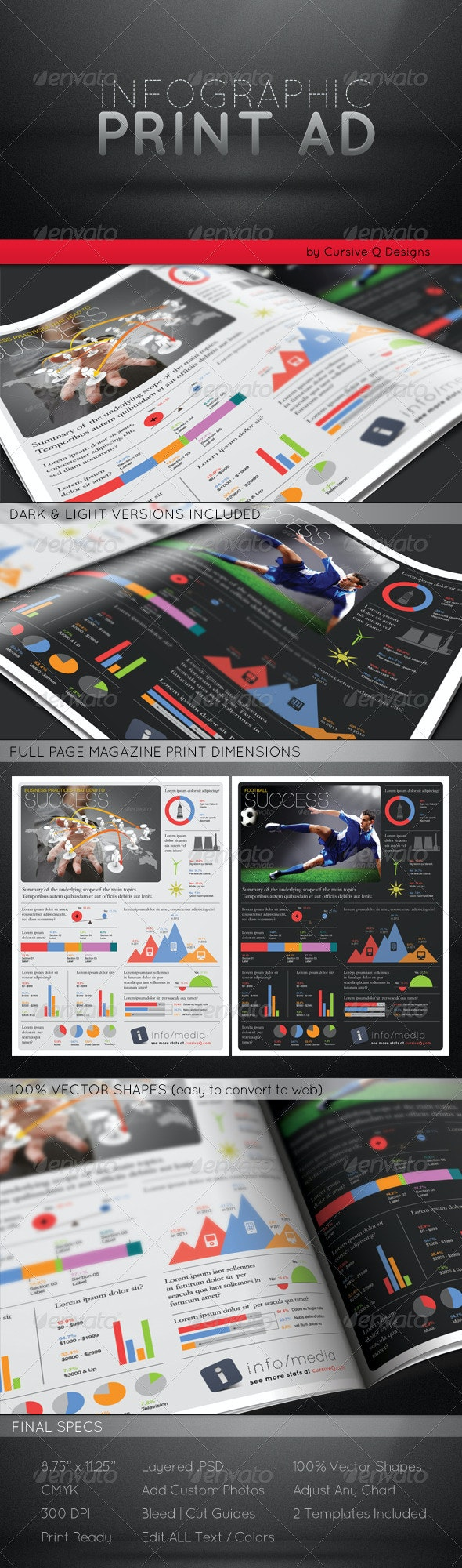 Infographic Print Ad Template - Corporate Flyers