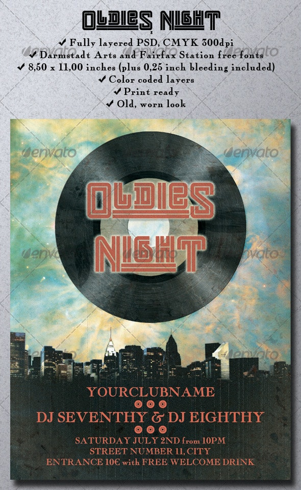 Oldies Night - Clubs & Parties Events