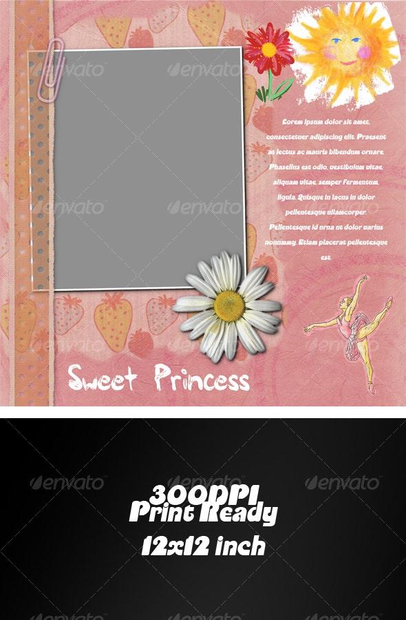 Scrap Cover Baby Album - Miscellaneous Print Templates