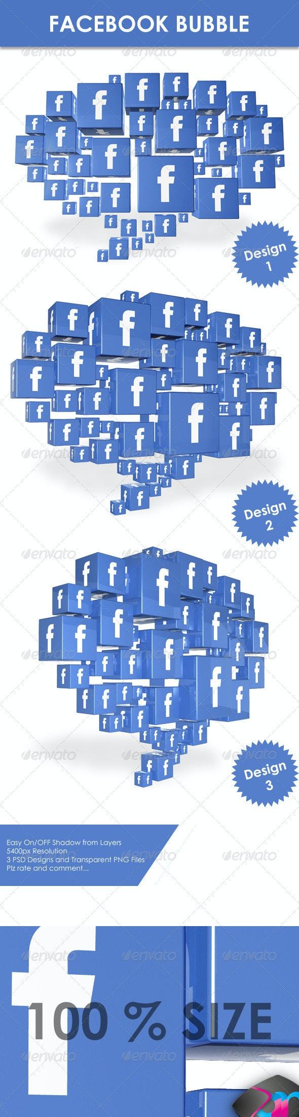 FB Speech Bubble Concept - Miscellaneous 3D Renders