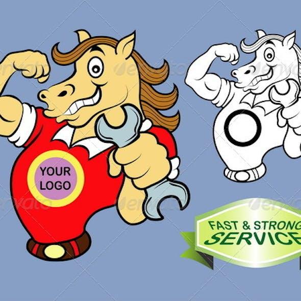 Horse cartoon character vector