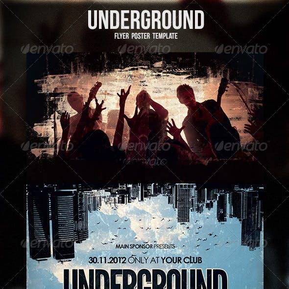 Underground Flyer / Poster