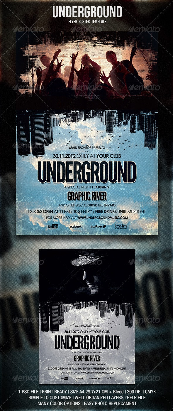 Underground Flyer / Poster - Events Flyers