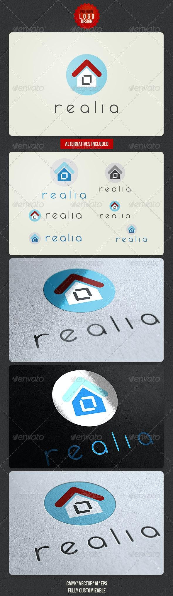 Clean Real Estate Logo Design - Buildings Logo Templates