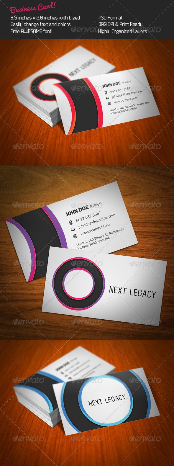 Circles Business Card - Corporate Business Cards